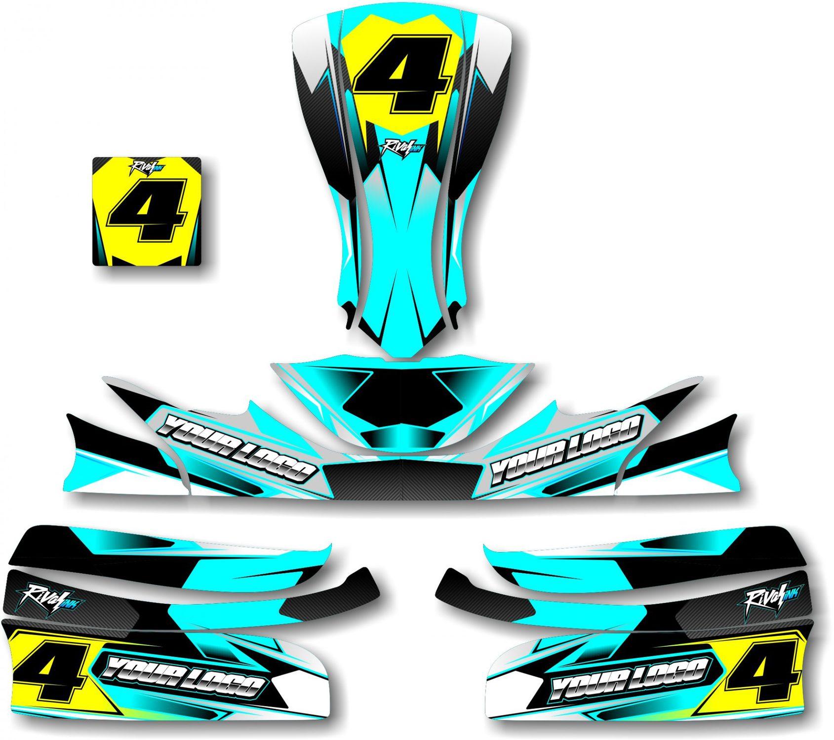 Carbon Kart Kit Cyan Rival Ink Design Co