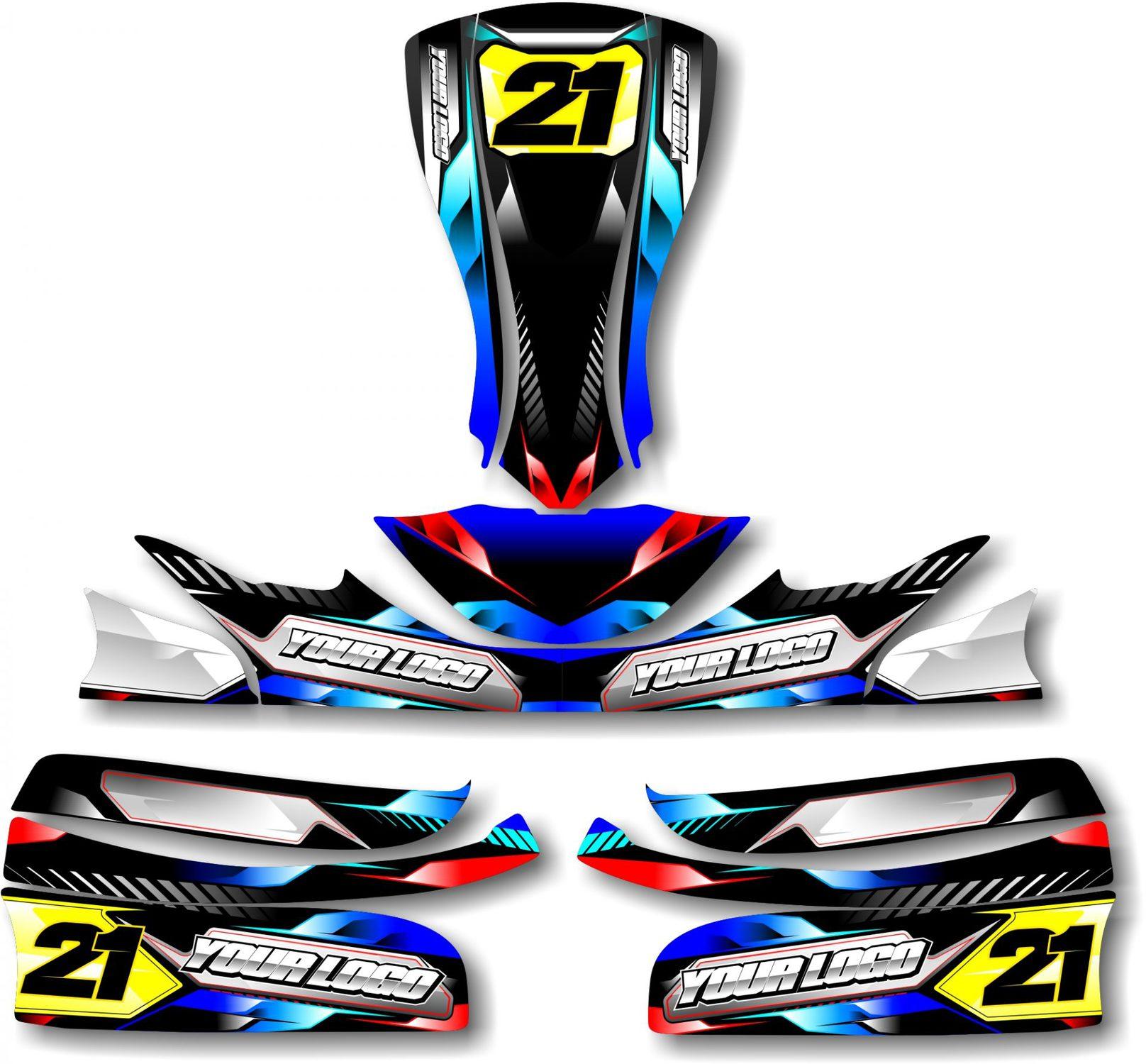 Velocity Kart Kit Blue Rival Ink Design Co