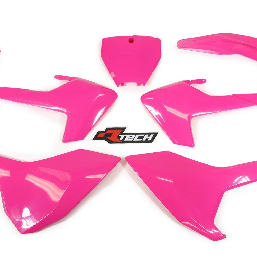 Neon yellow kit rival ink design co custom motocross graphics - Rtech Husky Tc 125 Fc Fx 250 350 450 2016 18 Tc 250 2017 18 Neon Pink Plastic Kit