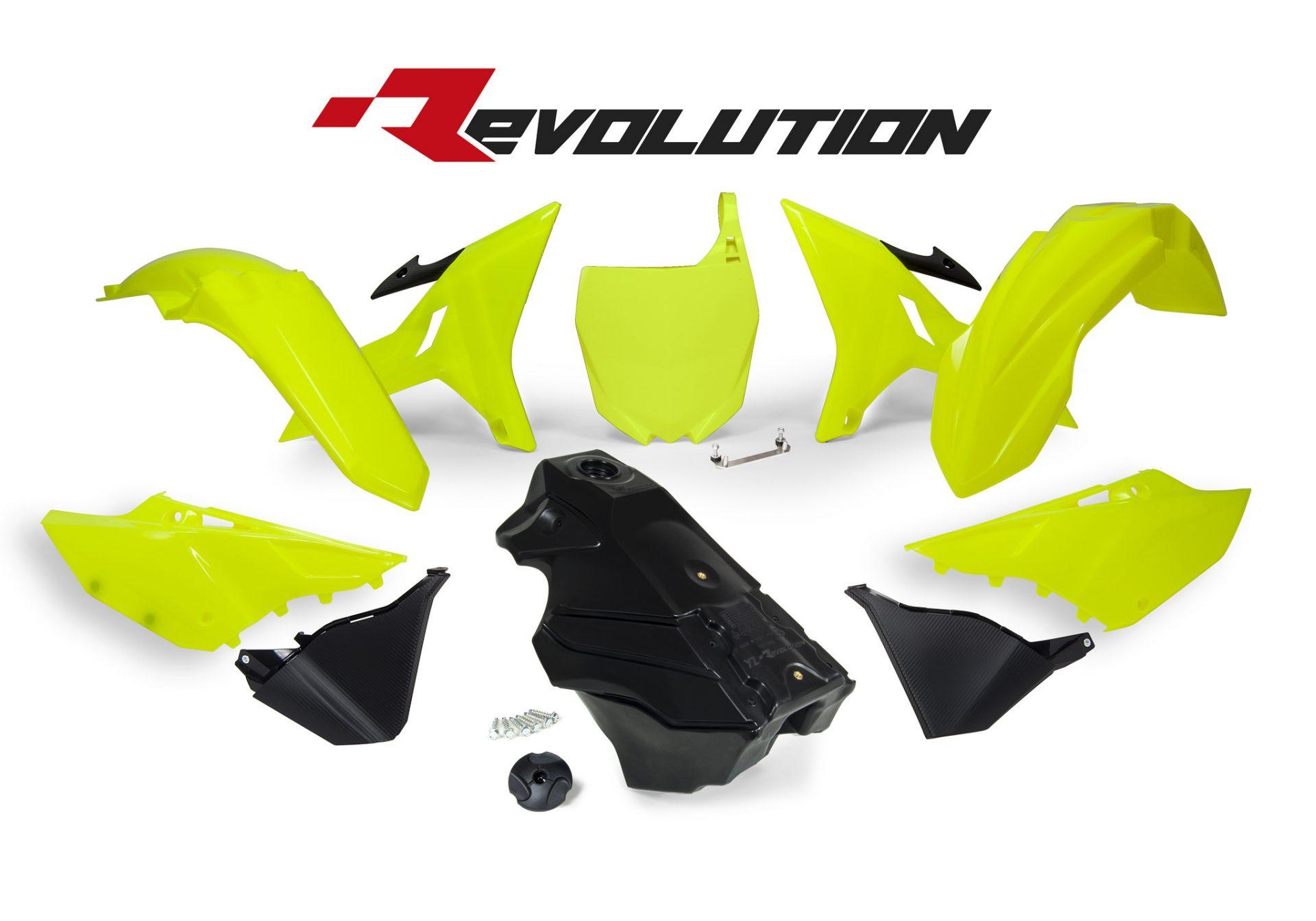 Neon yellow kit rival ink design co custom motocross graphics - Rtech Revolution Neon Yellow Yz Plastics Kit Including Tank