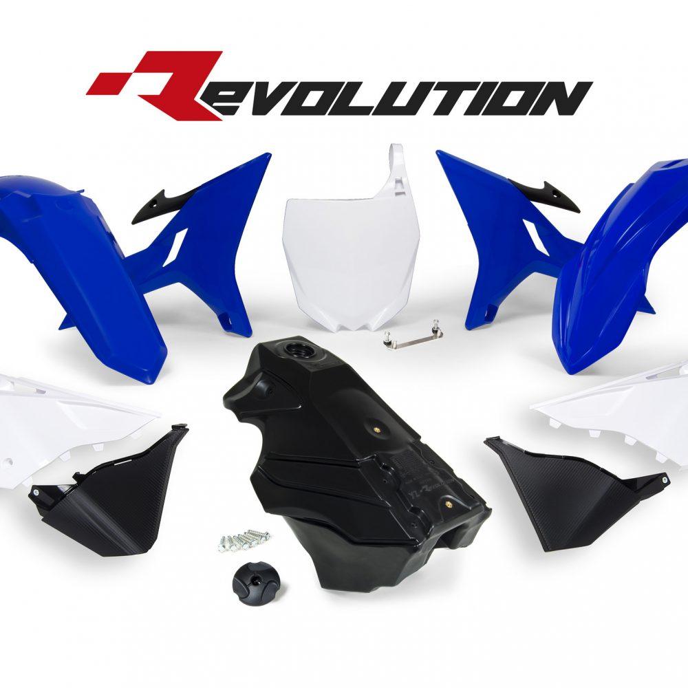 Neon yellow kit rival ink design co custom motocross graphics - Rtech Revolution Blue Yz Plastics Kit Including Tank