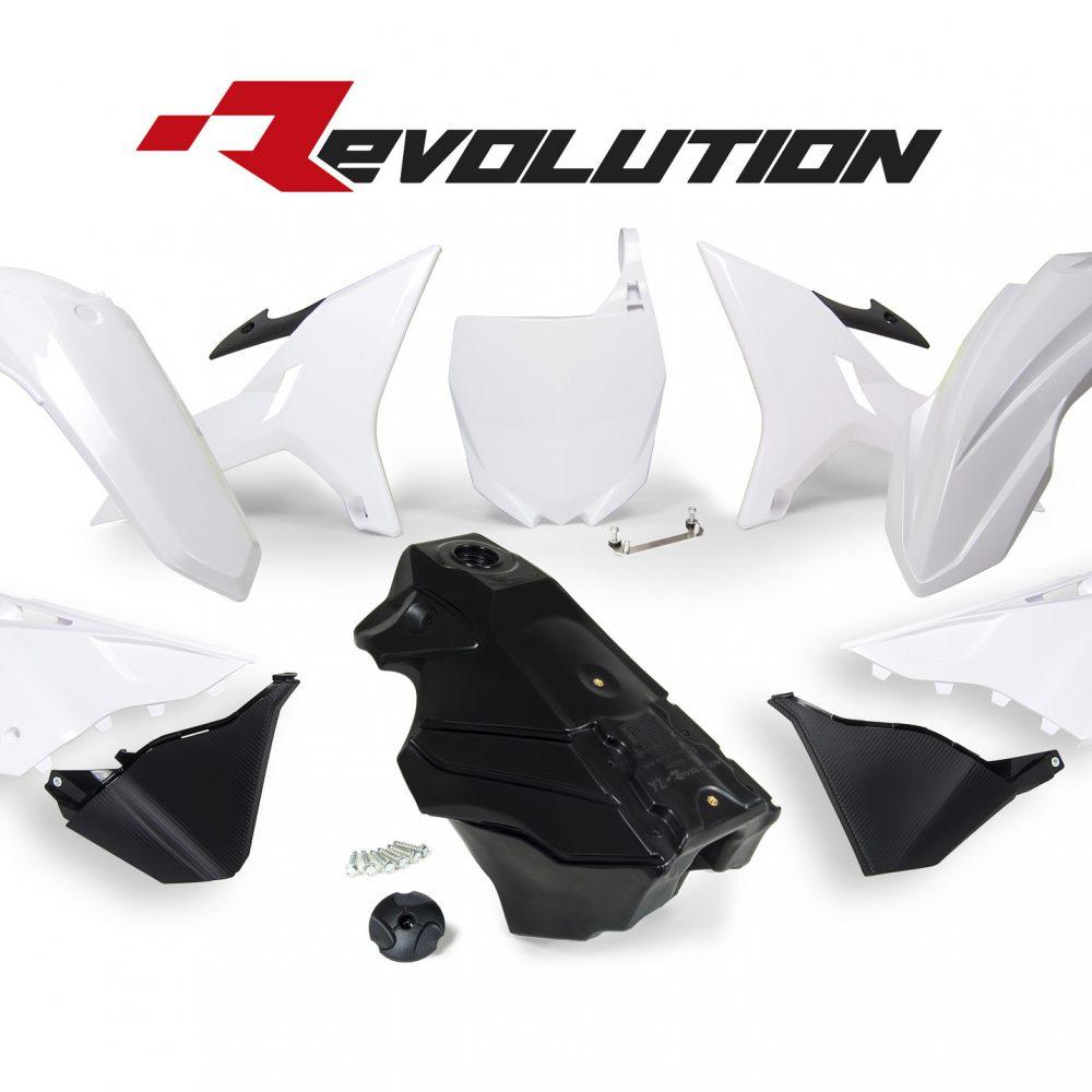 Neon yellow kit rival ink design co custom motocross graphics - Rtech Revolution White Yz Plastics Kit Including Tank