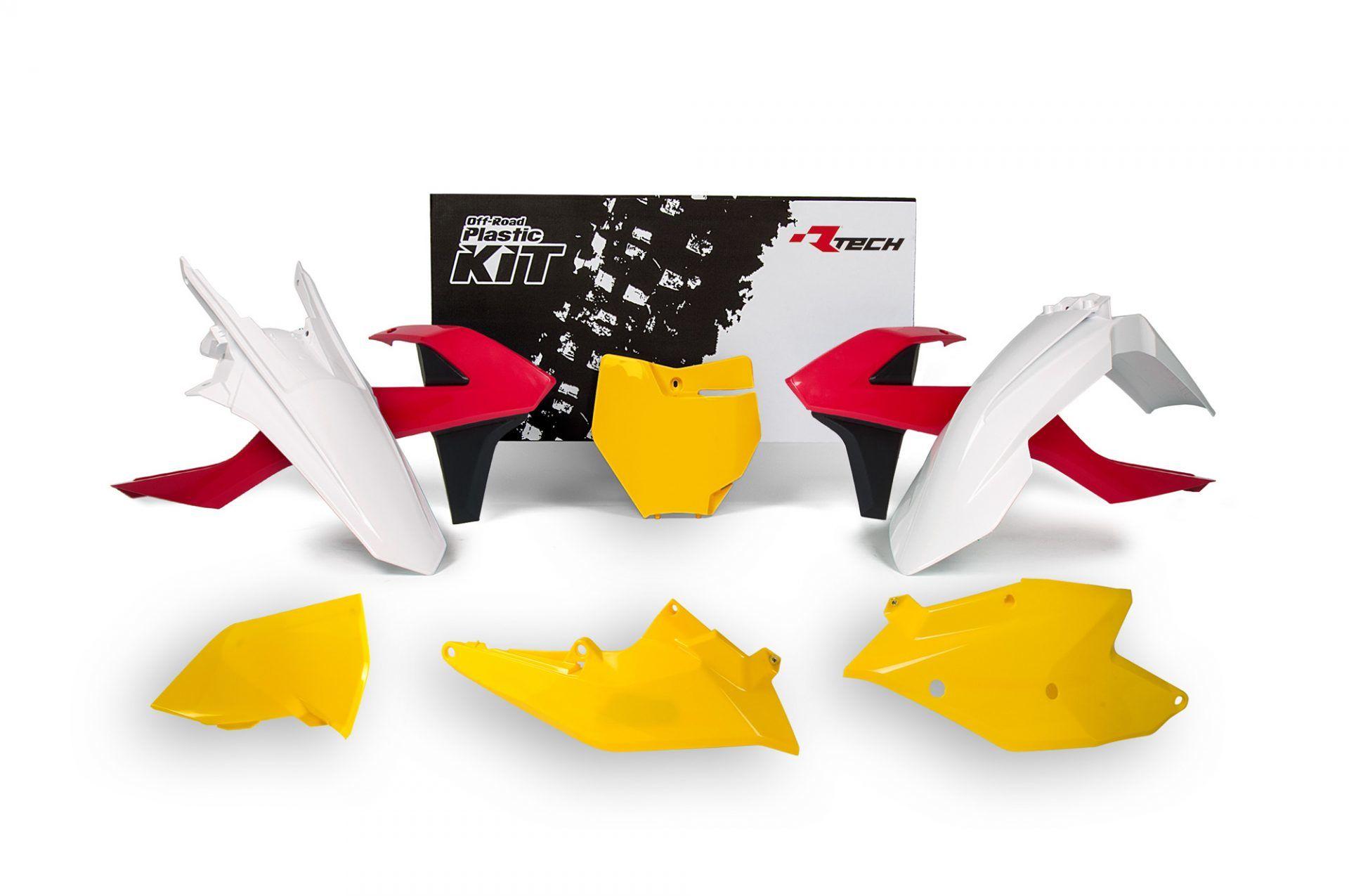 Neon yellow kit rival ink design co custom motocross graphics - Rtech Ktm Sx Sxf 2016 18 Vintage Red Yellow Plastics Kit