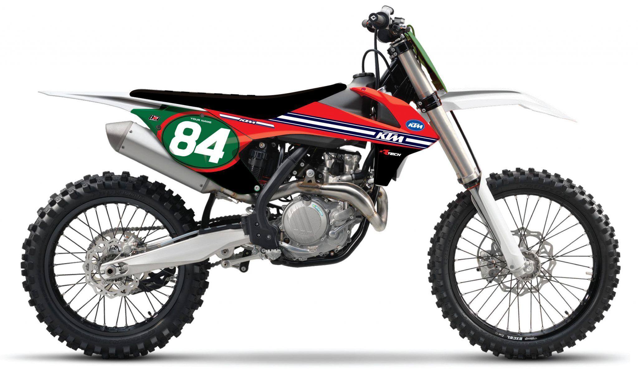 Vintage motocross number plate graphics - Shop