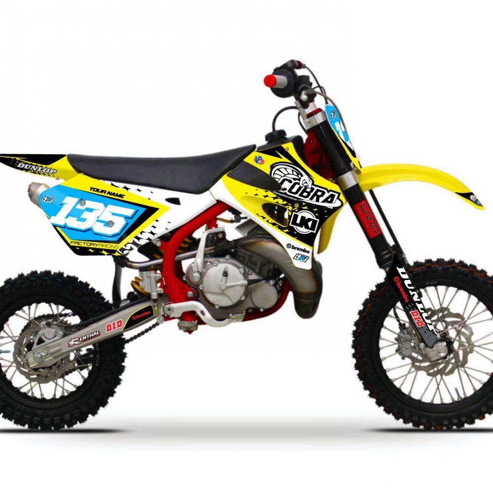 Neon yellow kit rival ink design co custom motocross graphics - Cobra Viper Kit