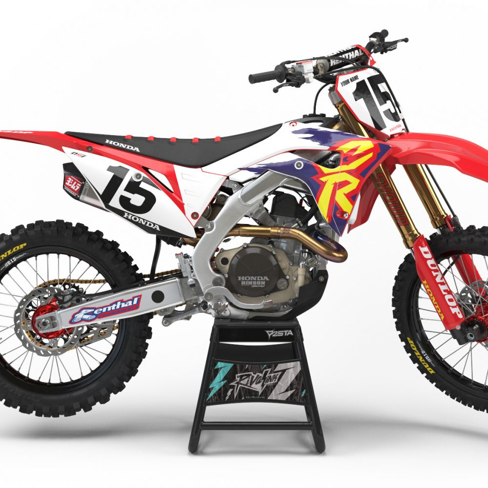 Vintage motocross number plate graphics - Select Options