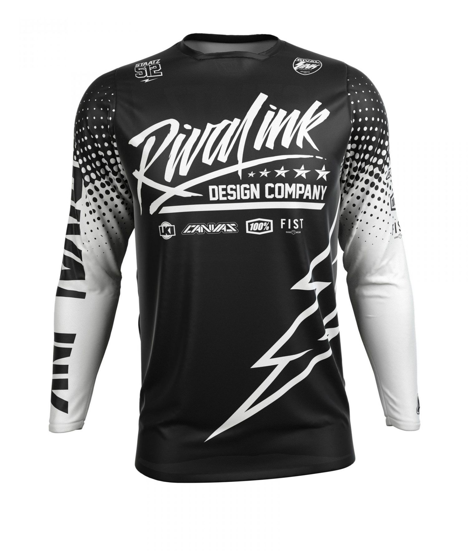 buy popular 20b01 1f989 PREMIUM FIT CUSTOM SUBLIMATED JERSEY - SERIES 1 BLACK AND WHITE