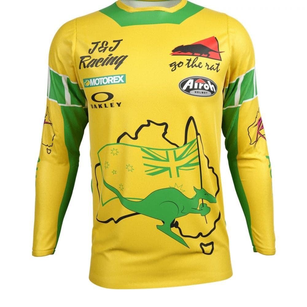 Neon yellow kit rival ink design co custom motocross graphics - Premium Fit Custom Sublimated Jersey Go The Rat