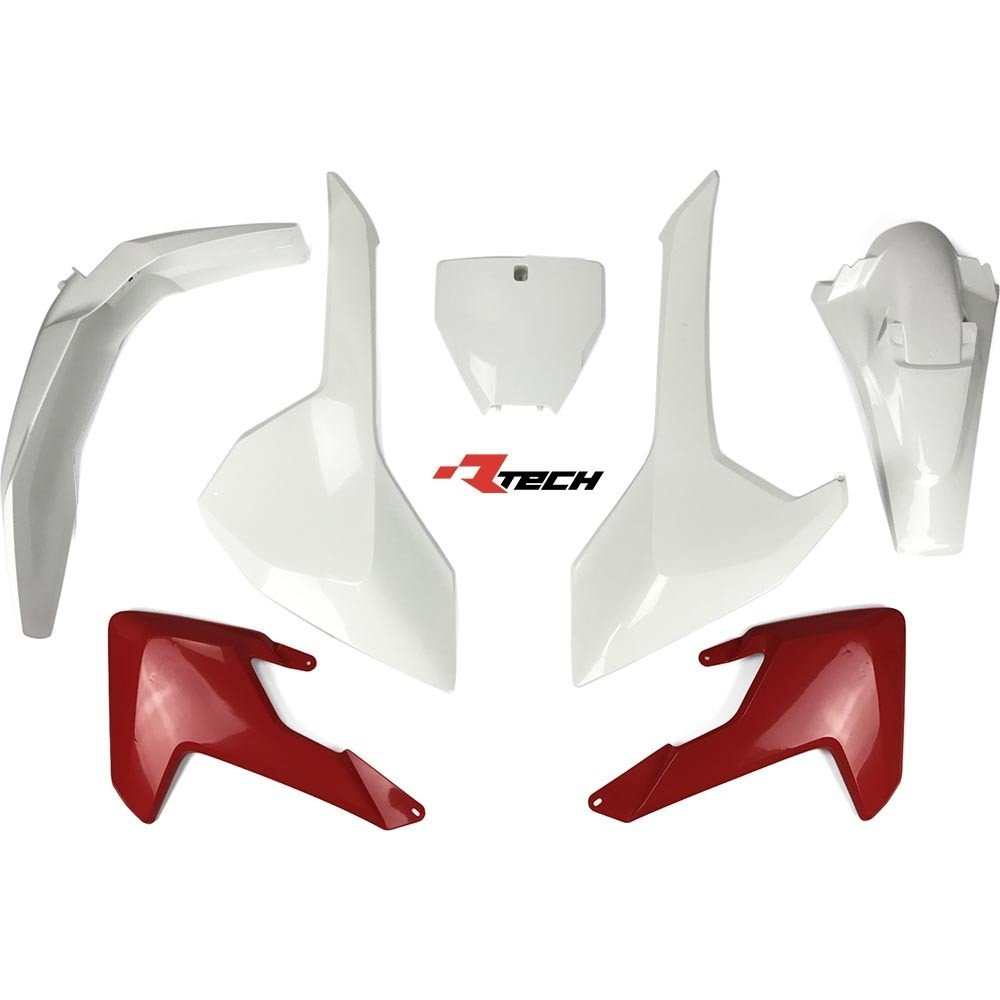 Neon yellow kit rival ink design co custom motocross graphics - Rtech Husky Tc 125 Fc Fx 250 350 450 2016 18 Tc 250 2017 18 Red White Plastics Kit