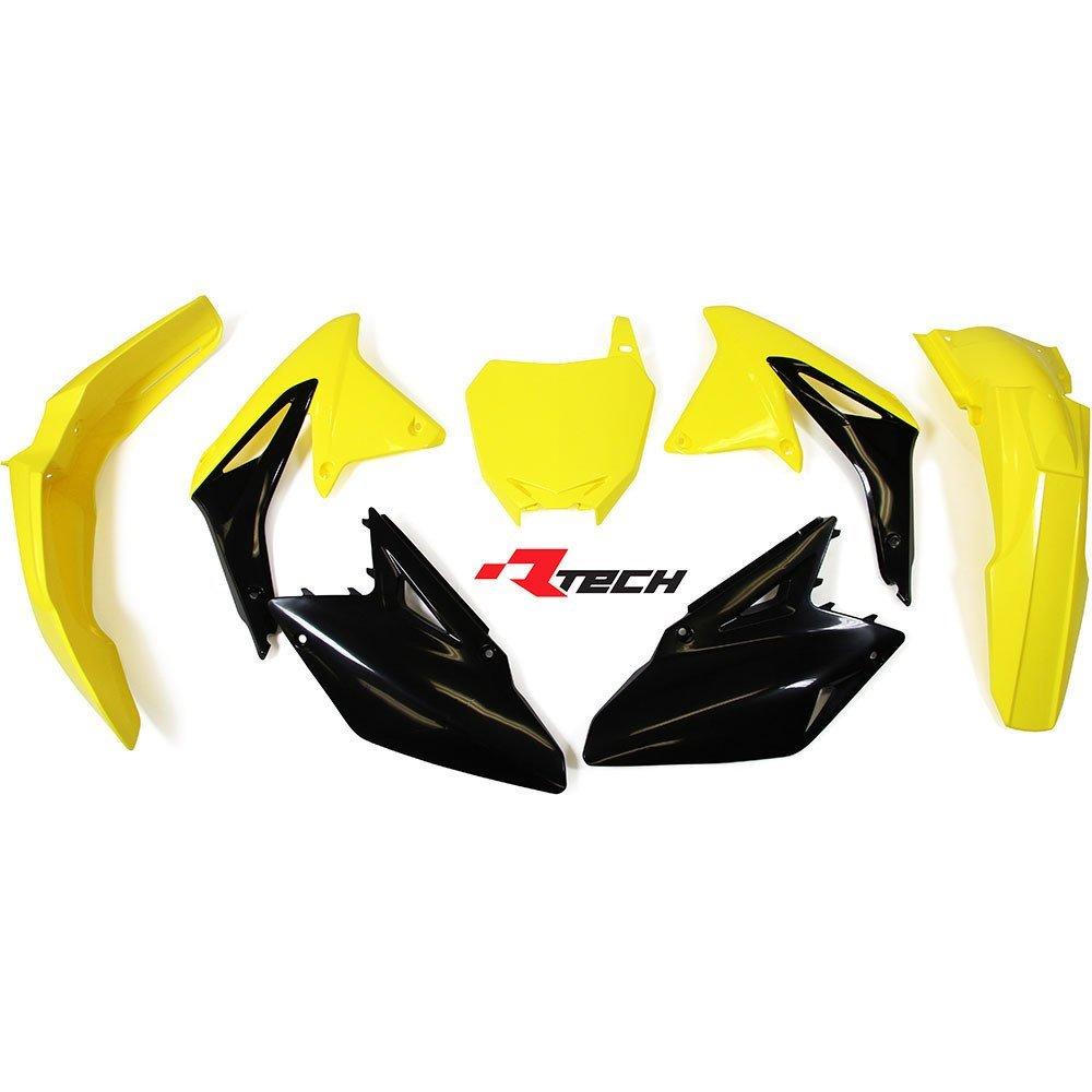 Neon yellow kit rival ink design co custom motocross graphics - Racetech Suzuki Rmz450 08 17 Oem 17 Plastics Kit