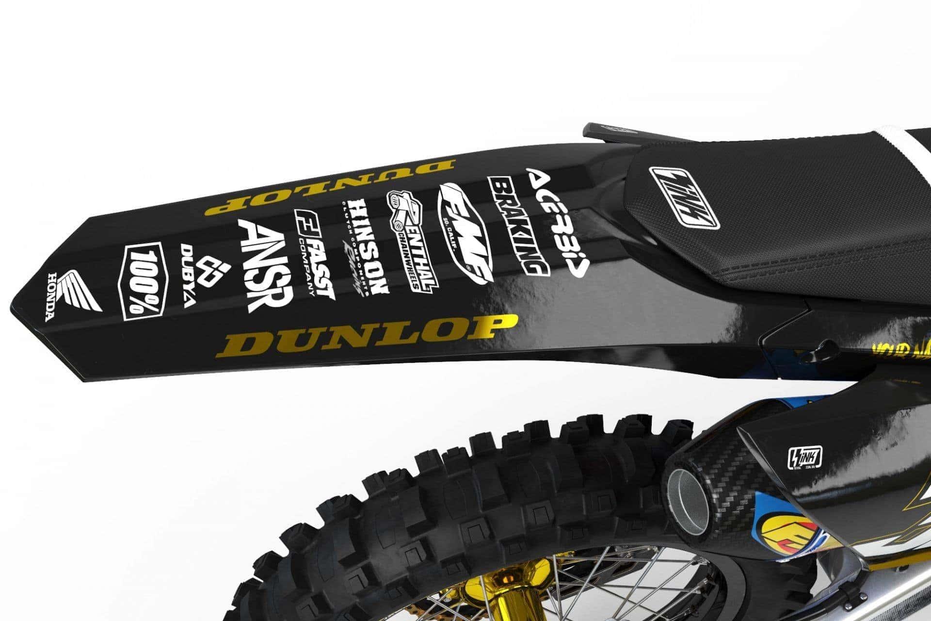 Neon yellow kit rival ink design co custom motocross graphics - Honda The Rivals Prestige Kit